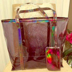Jimmy Choo Iridescent Perfum Tote Bag